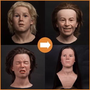 Childrens silicone heads