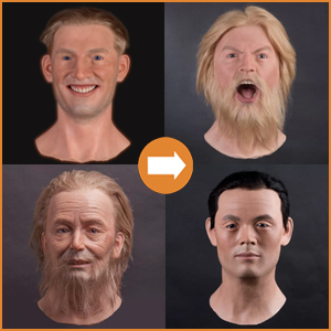 Male silicone heads